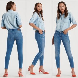 LUCKY BRAND Mid Rise Ava Skinny Ankle Length